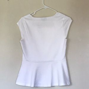 New White Peplum Top | Women's Small | The Limited